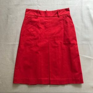 Zara Woman Red A-Line Skirt